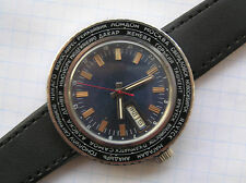 RUSSIAN VINTAGE WATCH USSR RAKETA World Cities time - Serviced