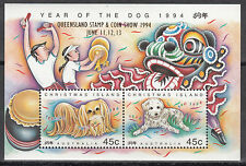 Christmas Island Nr. Bl. 8 IV** (392-393**) STAMP & Coin Show`94 Queensland