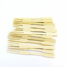 50 Pcs. Mini Forks Bamboo Nature Skewer Fruit Cocktail Snack New Year Party Xmas