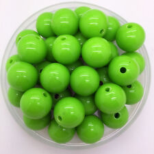 New 6mm 100Pcs Green Acrylic Round Pearl Spacer Loose Beads DIY Jewelry Making