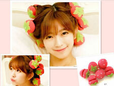 6Pcs Magical Strawberry Sponge Balls Curlers Rollers Bun for Hair Curling Hot