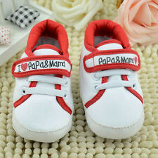 Red Infant Toddler Baby Boy Girl Kid Soft Sole Shoes Sneaker Newborn 6-12 Months