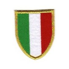 [Patch] ITALIA SCUDETTO bordo oro Juventus Milan Inter cm 5 x 6,5 ricamo -389