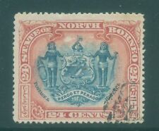 [JSC]1894 NORTH BORNEO COAT OF ARMS W SUPPORTER
