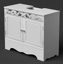 Sous évier bassin armoire de salle de bain meuble de rangement en bois blanc armoire meubles