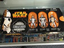 """STAR WARS REVENGE OF THE SITH EVOLUTIONS """"CLONE TROOPER TO STORMTROOPER SET MISB"""