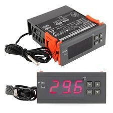 220V Digital LCD Temperature Controller Thermostat Incubation Control w/Sensor