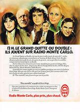 """PUBLICITE ADVERTISING  1980    RMC  radio  """" LE JEU QUITTE ou DOUBLE"""""""