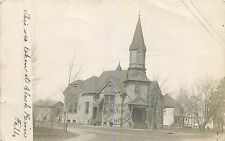 Wisconsin, WI, Black River Falls, Church 1909 Real Photo Postcard