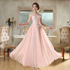 Beautiful Long Chiffon Bridesmaid Evening Formal Party Ball Gown Prom Dress N18
