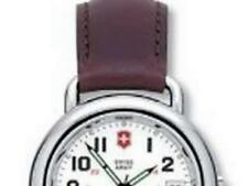 Vintage Victorinox Swiss Army Men's quartz Cavalry  Watch 24529 white face