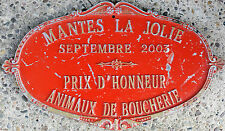 French farm agricultural show metal plaque plate 1st prize of honour Mantes 2003