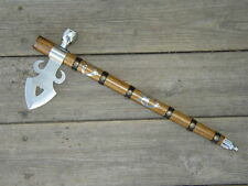 Indian Tomahawk Peace Pipe - Axe 19 Inches Wood Handle Fleur Indian