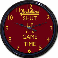 Washington Redskins Shut Up It's Game Time Wall Clock NFL Football Man Cave 10""