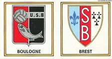 N°377 ECUSSON LOGO BADGE # US.BOULOGNE - AS.BREST STICKER PANINI FOOTBALL 1977