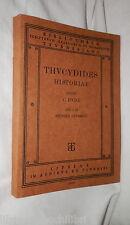 THUCYDIDES HISTORIAE Libri I e II Seorsim expressi C Hude Lipsia 1862 Classici