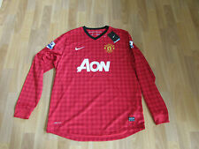 Nike MANCHESTER United MOYES No 1 & PL Patches FOOTBALL Shirt XL NEW with TAGS