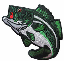 """#5068 4-1/2"""" Sea Bass Fish Embroidery Iron On Applique Patch"""