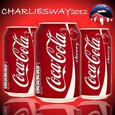 3 x LATTINE DI COCA COLA CHERRY ( alla ciliegia ) da 330 ml bibita SPECIAL PRICE
