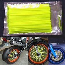72pcs Wheel Spoke Wraps Coat Cover 4 Honda 125 Suzuki 250 Yamaha 450 YELLOW