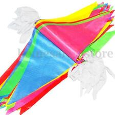125 Feet Multicolors Triangle Pennant Nylon Flags String Banner Buntings Decor
