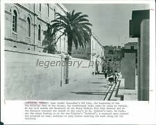 1989 Via Dolorosa inside Jerusalem's Old City Original News Service Photo