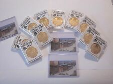 CALIFORNIA GOLD RUSH 1848 GOLD DISCOVER COMMEMORATIVE COIN & MAGNET 2 ITEMS #704