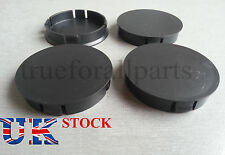 4x Wheel Rim Center Caps Black fit ALFA ROMEO FORD VAUXHALL 60mm dia Universal