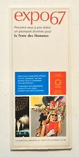 EXPO 67 Brochure Montreal Canada 1967 WORLD'S FAIR Get Your Passport to Visit