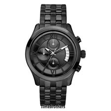NEW GUESS WATCH for Men * Black IP Stainless Steel * Chronograph * U17526G1