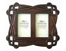 Carved Wood Celtic Knotwork Double Photo Frame (23)