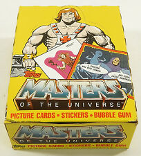 1984 Topps Masters of the Universe Cards Empty Display Box ^ He-Man Skeletor