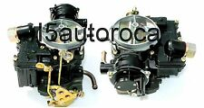 SET OF 2 MARINE CARBURETORS 2BBL ROCHESTER 5.7L V8 350CID MERCARB RPL MERCRUISER