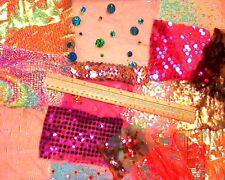 Children's Craft/Tessuto Luccicante OFF-TAGLI/scarti ideale per collage ecc.