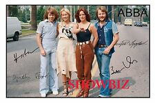 ABBA UNIQUE SIGNED AUTOGRAPH POSTER PHOTO PRINT - GREAT PIECE OF MEMORABILIA