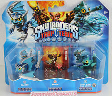 Blades Torch Tidal Wave Gill Grunt - Skylanders Trap Team 3er Figuren Pack Neu