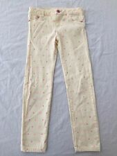 Hello Kitty by Sanrio Stretch Jeans Pants Vanilla Creme w/Pink Girls Size S