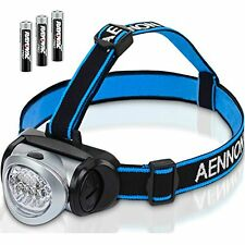 LED Head Torch with Red Lights for Running, Camping, Reading, Hiking, Kids, DIY