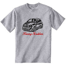 FIAT ABARTH 2015 RACING TRADITION P - COTTON GREY TSHIRT - ALL SIZES IN STOCK