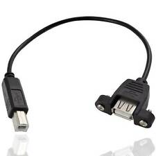 Universal USB 2.0 B Male to USB B Female Printer Panel Mount Extension Cable New