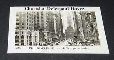 PHOTO CHOCOLAT DELESPAUL-HAVEZ 1950 ETAT UNIS USA PHILADELPHIE GRATTE-CIELS RUE