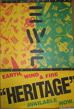 EARTH, WIND & FIRE Heritage, Columbia promotional poster, 1990, 23x35, EX, R&B
