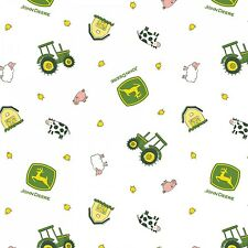 #H111 JOHN DEERE Fabric NEW Tractor Animal Toss  FAT QUARTER (BTFQ)