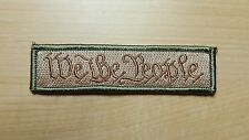 Multicam WE THE PEOPLE Velcro Morale Patch for back of hat III% Oath Keepers