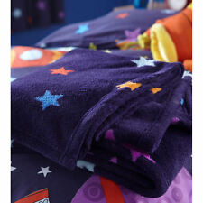 Outer Space Stars Fleece Throw Blanket