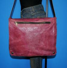 Wilson's Leather Purple Messenger Cross-Body Satchel Book Laptop Work Tote Bag