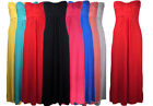 Ladies Strapless Boobtube Knot Front Bandeau Womens Maxi Dress 8-14