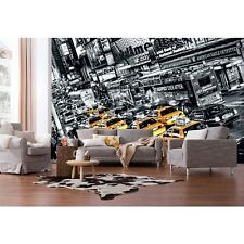 Giant wallpaper 368x254cm New York City streets Yellow taxi cabs wall mural