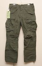 NEW Ralph Lauren RRL DOUBLE RL Cotton Green Military Cargo Pants 32 x 32