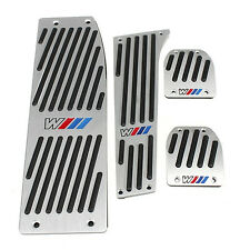 Aluminium Pedalauflage Fussstuetze fuer BMW M-TECH X1 E30 E36 E46 E87 E90 V1N3